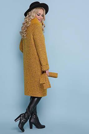 Зимнее пальто с натуральным мехом шерсть альпаки 46 ,56 размер, фото 2
