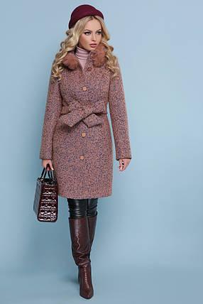 Зимнее пальто с мехом енота шерсть 46 48, фото 2
