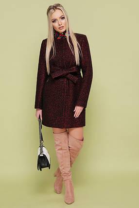 Демисезонное пальто с поясом без капюшона шерсть 42 44 46 48 50, фото 2