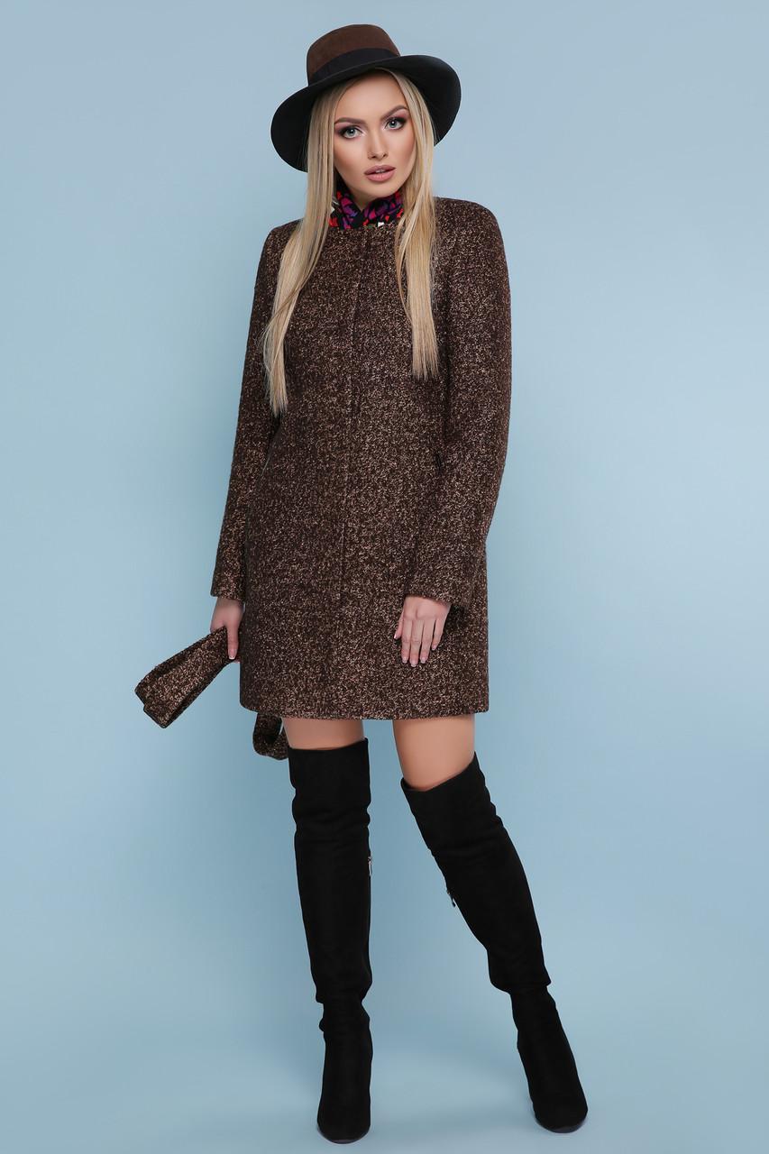 Демисезонное пальто с поясом без капюшона шерсть 42 44 46 48 50