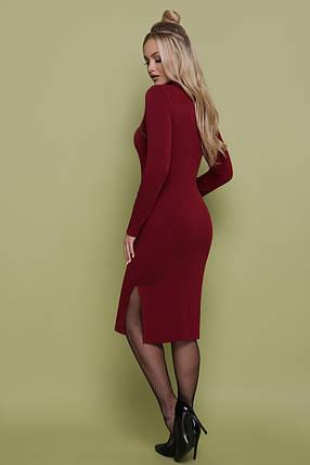 Платье ангоровое под горло с открытым декольте 42 44 46, фото 2