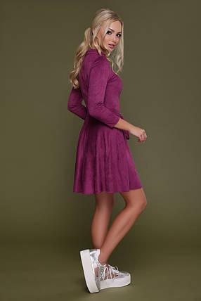 Замшевое малиновое платье 42 44 46, фото 2