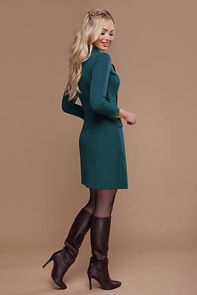 Зеленое платье на запах стильное 42 44 46 48, фото 2