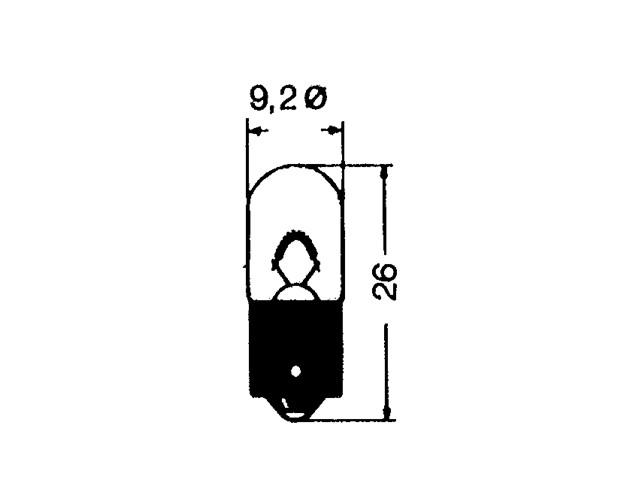 Запасна лампа галогенна BA9s 12V/5W