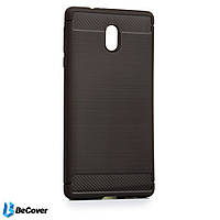 Панель Carbon Series BeCover для Nokia 3.1 Gray (702660)