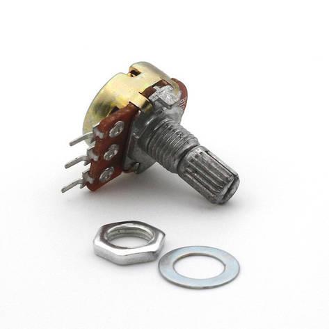 Резистор переменный WH-148 B10K 10 кОм 15 мм, фото 2