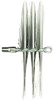 Щетка металлическая плоская для чистки дымохода люкс 500мм