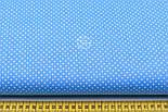 """Ткань хлопковая """"Густой горошек 2 мм"""" на тёмно-голубом фоне, №1854а, фото 2"""