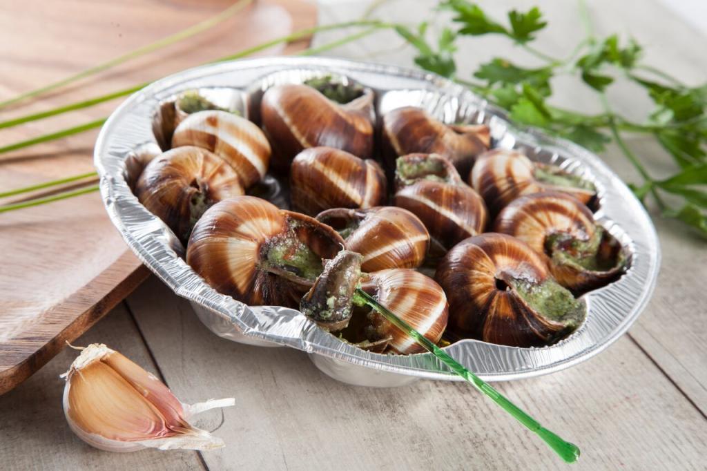 Улитки по-Провансальски, упаковка 100 грамм, на развес (полуфабрикат, фаршированные)