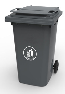 360А-2DG Бак для мусора пластиковый 360л. темно-серый