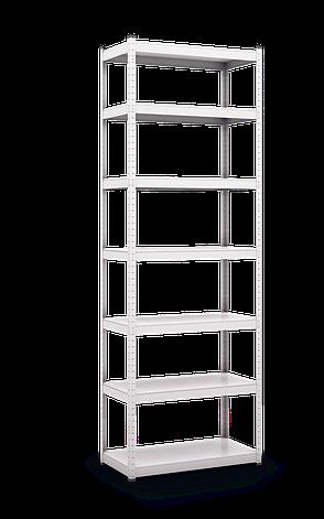 Стеллаж полочный Стандарт (1800х1000х400), на зацепах, 5 полок, 130 кг/полка, металлическая полка, фото 2