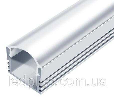 Алюминиевый профиль для светодиодной ленты ЛП12 + рассеиватель(матовый)
