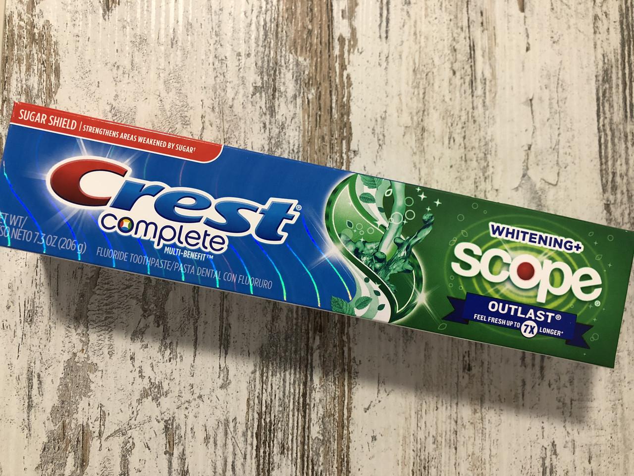 Зубная паста необыкновенной свежести дыхания Crest Scope Outlast, 206грамм