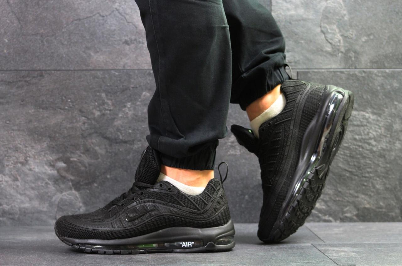 Мужские кроссовки Nike Air Max 98 Off White,черные