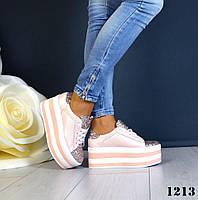 Супер модные женские кроссовки на платформе, фото 1