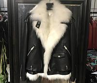 Куртка косуха YSL натуральная кожа, куртка 2 в 1 жилет из лисы. В двух цветах