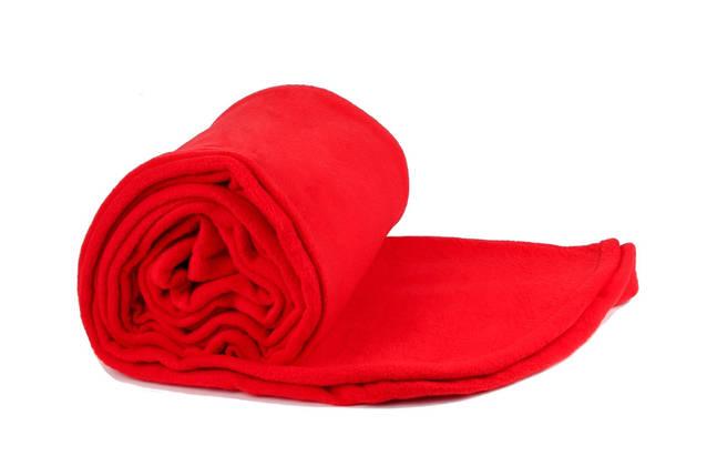 Плед червоний  флісовий 145х200 см, фото 2