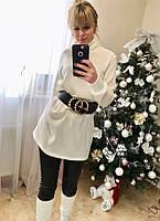 Женский стильный свитер - туника  МЕ428, фото 1