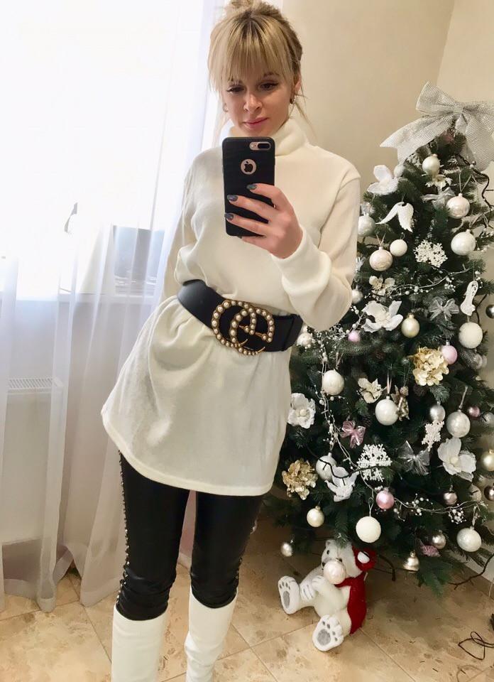 Женский стильный свитер - туника  МЕ428