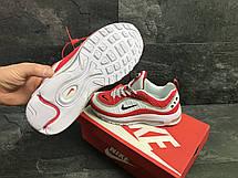 Мужские кроссовки Nike Air Max 98 Off White,белые с красным 44р, фото 3