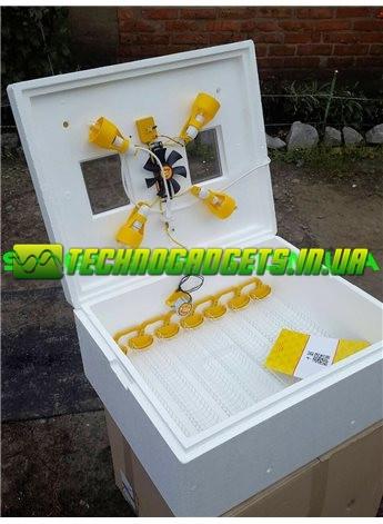 Инкубатор Теплуша ИБ 220/50 ЛА(В) 63 яйца автомат, вентилятор, лампы, влагомер