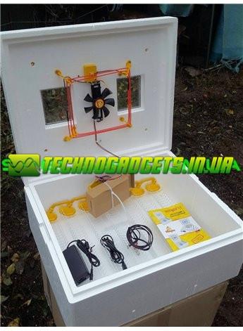 Инкубатор Теплуша ИБ 12/50 ТА(В) 63 яйца автомат, вентилятор, ТЭН, влагомер, +12 Вольт