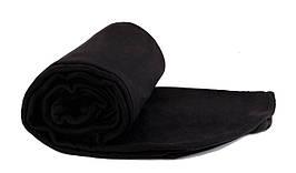 Плед чорний  флісовий 145х200 см