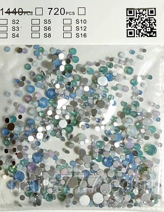 """Камни опалы """"Сваровски"""" для дизайна ногтей, микс,720шт, фото 2"""