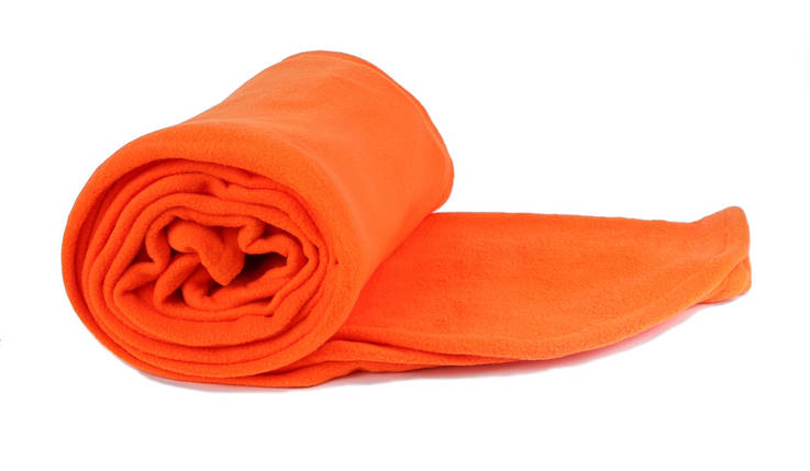 Плед помаранчевий  флісовий 145х200 см, фото 2
