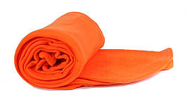 Плед помаранчевий  флісовий 145х200 см