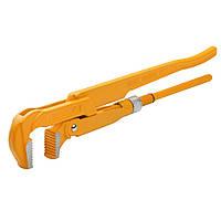 """Ключ трубный Tolsen 90 градусов 1.5"""" рычажный Cr-V  Dmax 55 мм (10252), фото 1"""