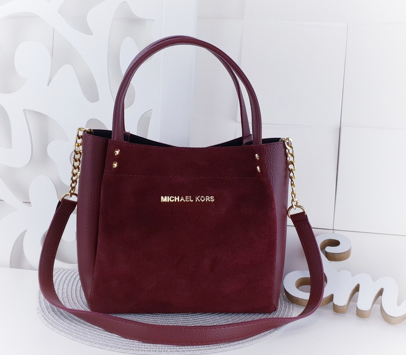 38b2c7ef3c84 Стильная женская сумка копия Майкл Корс замш+эко-кожа, цена 500 грн ...