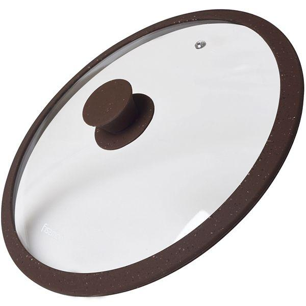 Крышка Fissman Arcades 26 см Темно-коричневая (9969)