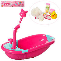 Ванночка (ванная) для Пупса baby born, ваночка для куклы, аксессуары полотенце, мочалка, утка, флаконы,M 3836