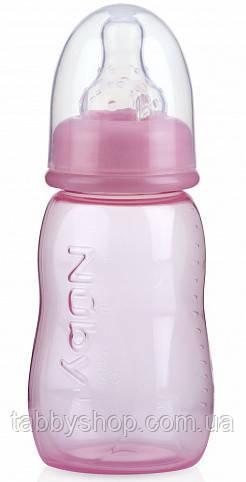 Бутылочка антиколиковая NUBY со стандартным горлом, средний поток, 150 мл (розовая)