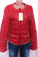 Куртка женская с кожзама на утеплителе