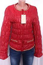 Куртка жіноча з шкірозамінника на утеплювачі