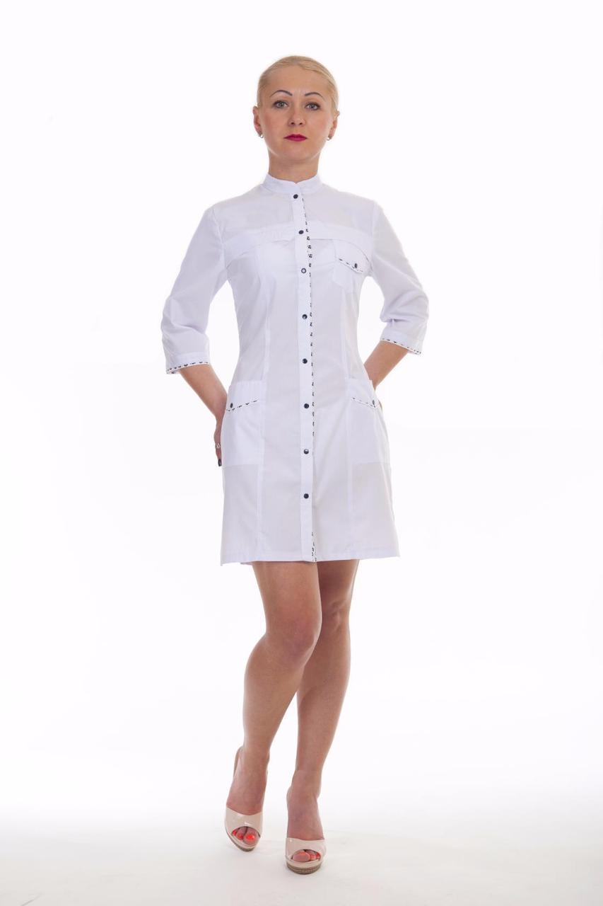 Медицинский женский халат из батиста
