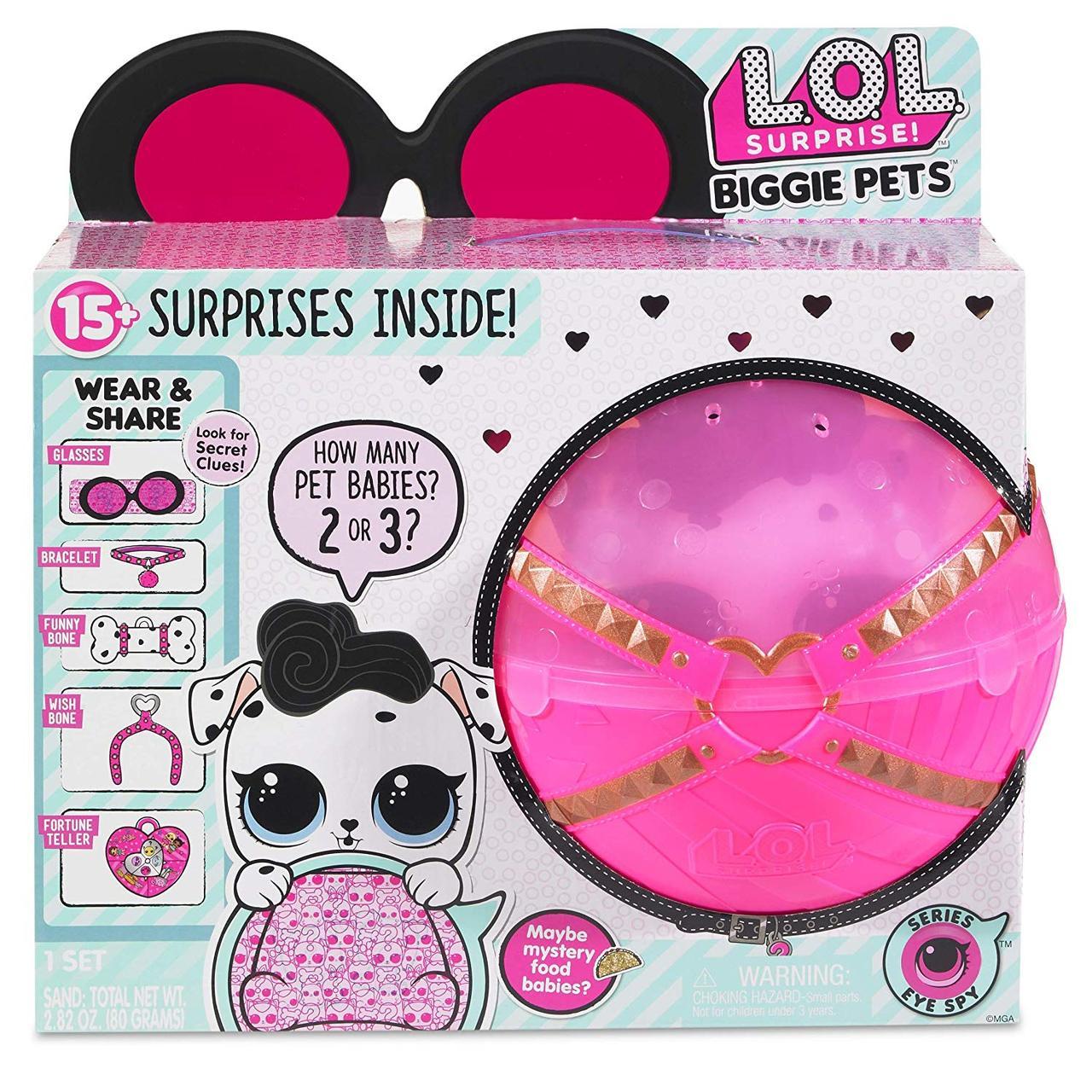 Набор ЛОЛ секретные месседжи большой питомец Собачка Далматинец L.O.L. Surprise! Biggie Pet Dollmation