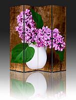 "Ширма ""Сирень в белой вазе"", 160х180см, деревянная"