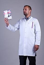 медицинский халат мужской 3107 ( коттон 42-60 р-р )