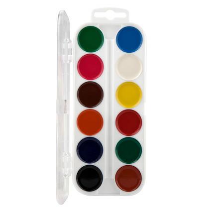 Краски акварельные Kite Transformers TF19-061, 12 цветов, без кисточки, фото 2