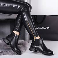 Женские демисезонные ботинки черные  челси , фото 1