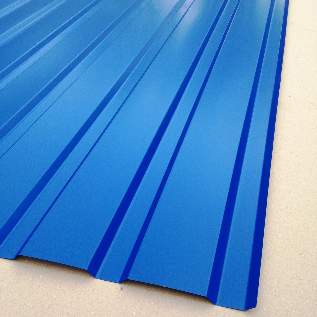 Профнастил для забору, колір: синій ПС-20, 0,30 мм; висота 1.5 метра ширина 1,16 м