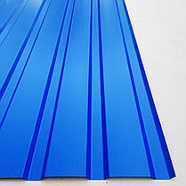 Профнастил  для забора, цвет: синий ПС-20, 0,30мм; высота 1.5 метра ширина 1,16 м, фото 2