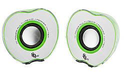 """Колонки """"Яблоко"""" для PC Dellta 2.0 USB 128X/028A зеленый"""