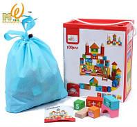 Детская игрушка. Деревянные кубики Замок