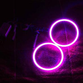 Светодиодные кольца RGB (ангельские глазки) 70-58 мм. COB  суперяркие ПАРА, фото 2