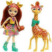 Кукла Enchantimals Жираф Джиллиан и друг Повл из серии большие друзья (FKY74)