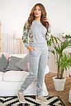 Жіночий костюм №211 сірий, фото 2